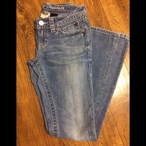 Harley Davidson women's boot cut jeans size 2